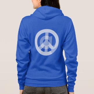 @ Peace Sign Social Media Blogger Internet Logo Hoodie