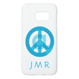 @ Peace Sign Social Media Monogram Personalized Samsung Galaxy S7 Case