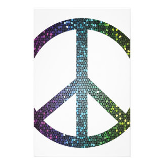 peace sign stationery