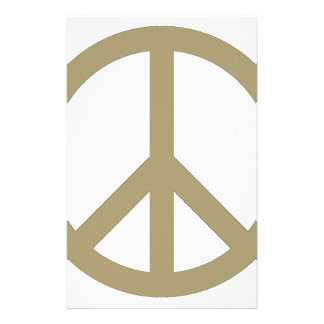 Peace Sign Stationery Design