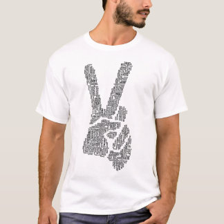 Peace Sign Typography T-Shirt