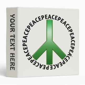 Peace Sign Vinyl Binder