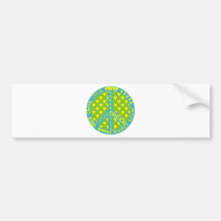Peace Sign with Cheer in Frame Bumper Sticker