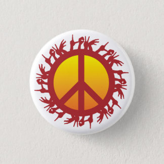 Peace Sign With Love All Around Round Button