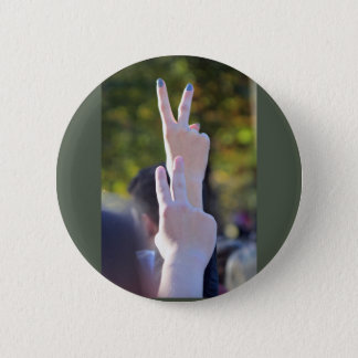 Peace signs 2 inch round button
