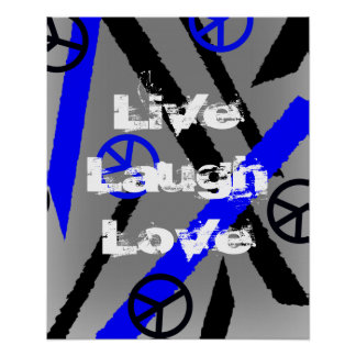 Peace Signs Live Laugh Love Grunge Style Print