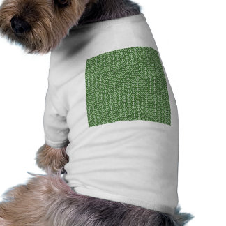 Peace Signs on Holiday Pine Green Doggie Shirt
