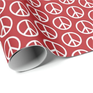 Peace Signs on Holiday Red