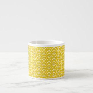 Peace Signs on Sunny Yellow Espresso Mug