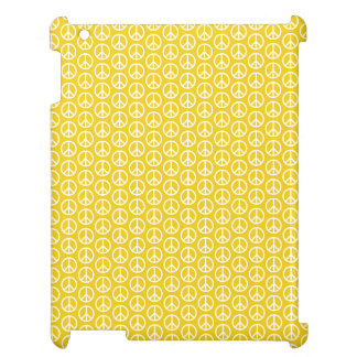 Peace Signs on Sunny Yellow iPad Case