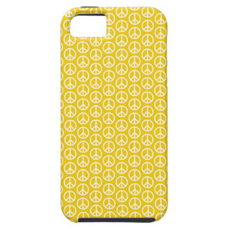 Peace Signs on Sunny Yellow iPhone 5 Covers