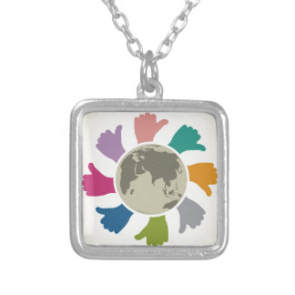Peace Silver Plated Necklace
