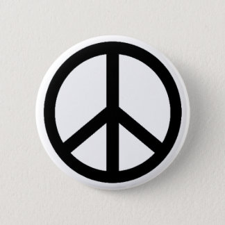 peace simbol 2 inch round button