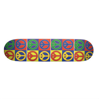 peace skateboard deck