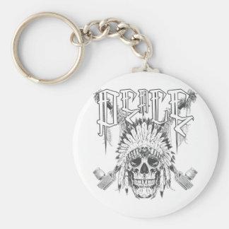 Peace Skull Keychain