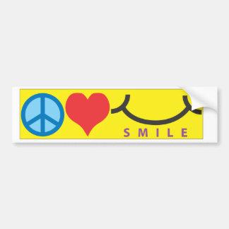Peace/Smile Bumper Sticker