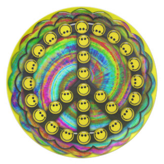 Peace Smilies Plate