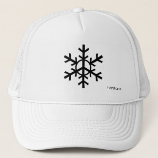 Peace snowflake trucker hat - black logo
