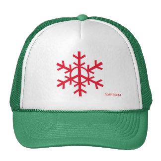 Peace snowflake trucker hat - cherry red