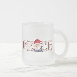 Peace Snowman Mug