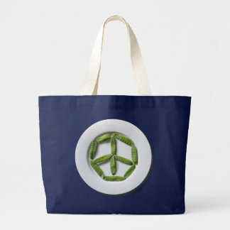 Peace Snowpeas Jumbo Tote Bag