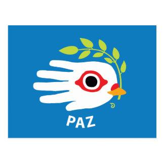 Peace Spanish postcard