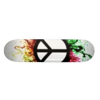 Peace Splatter Miller Deck Custom Skateboard