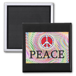 PEACE! SQUARE MAGNET