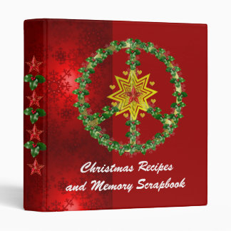 Peace Star Christmas 3 Ring Binder