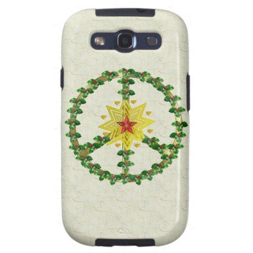 Peace Star Christmas Galaxy S3 Cover