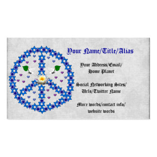 Peace Star Of David Pack Of Standard Business Cards