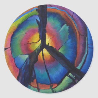 Peace Stump Classic Round Sticker