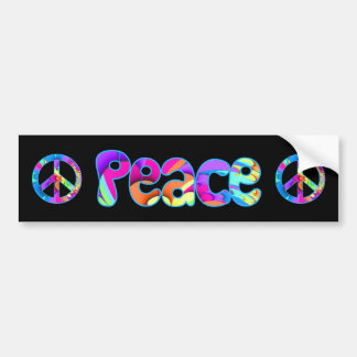 Peace Summer Palette Fractal Bumper Sticker