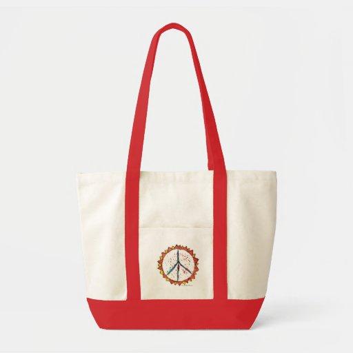 Peace Sun Orange Tote Bag