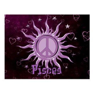 Peace Sun Pisces Postcard