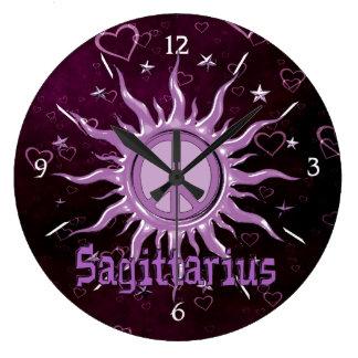 Peace Sun Sagittarius Large Clock