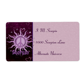 Peace Sun Scorpio Shipping Label