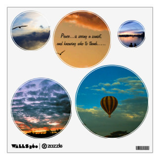 Peace Sunset Wall Decals