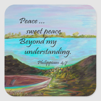 Peace Sweet Peace Square Sticker