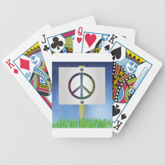 peace symbol bicycle playing cards