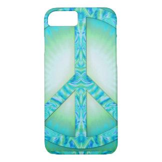Peace Symbol Blue-Greens iPhone 7 Case