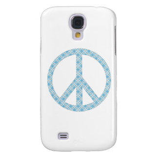 Peace Symbol Blue Patterned Galaxy S4 Cover