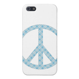 Peace Symbol Blue Patterned Cover For iPhone 5