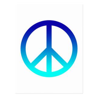 Peace Symbol Blue Postcard