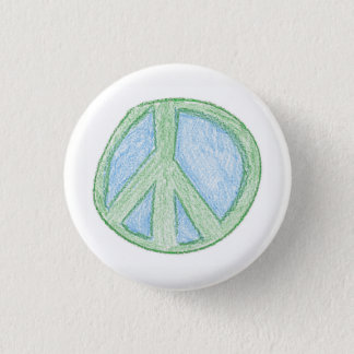 Peace Symbol by Spud 1 Inch Round Button