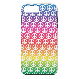 Peace symbol Case-Mate Tough iPhone 7 Plus Case