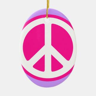 Peace Symbol Ceramic Ornament