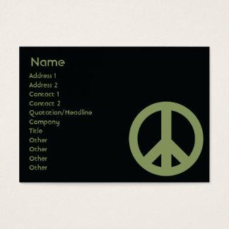 Peace Symbol - Chubby Business Card