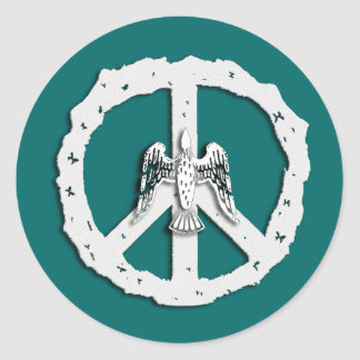 Peace Symbol & Dove Stickers