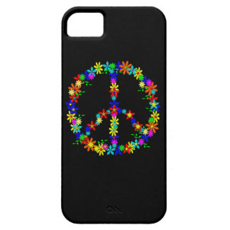 Peace symbol flower power iPhone 5 case